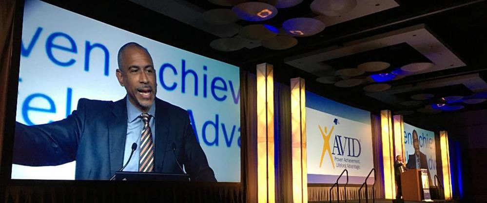Pedro Noguera speaking at AVID National Conference