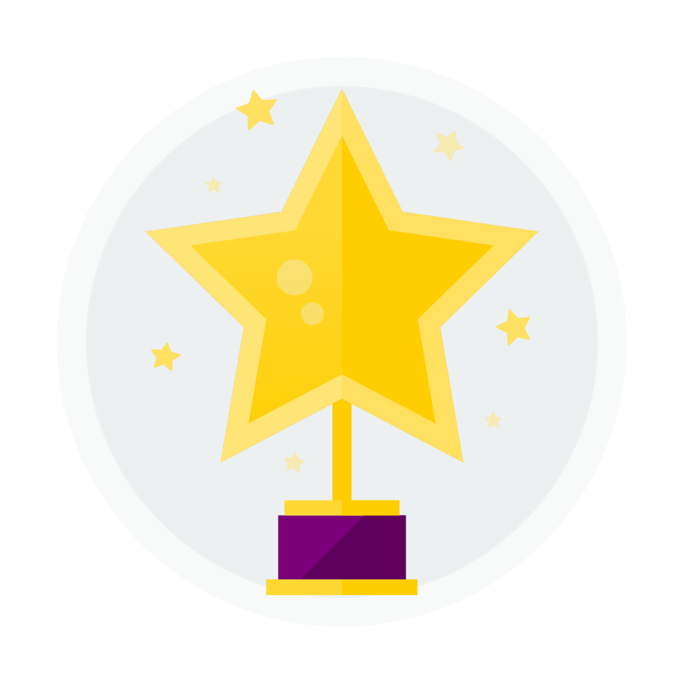 Icon of a star trophy