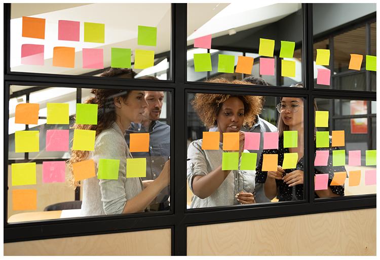 Image of educators collaborating.