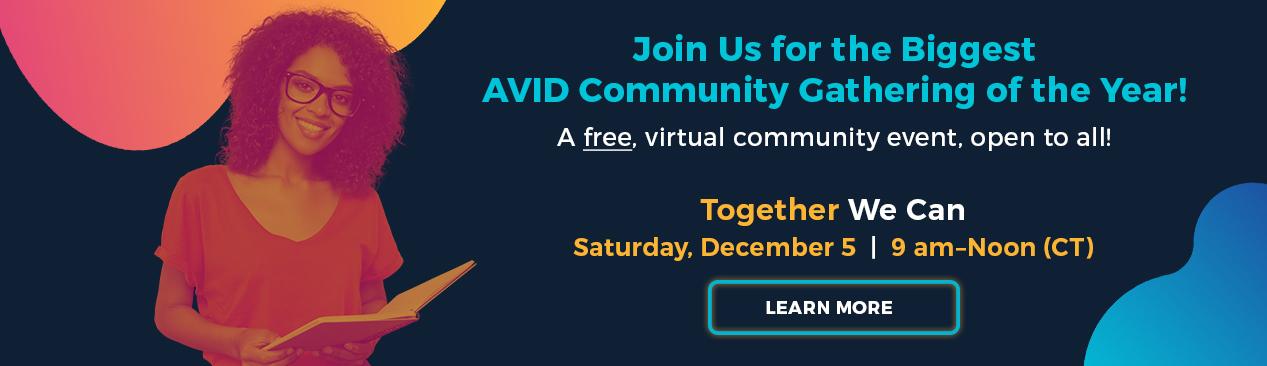 AVID Commmunity Event
