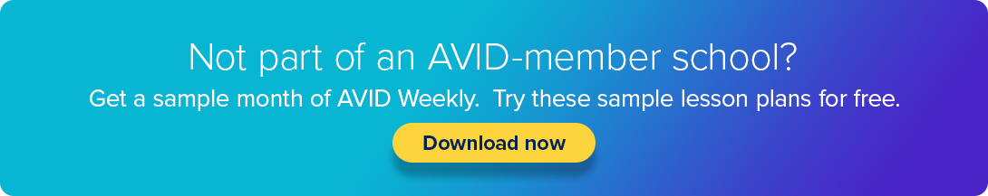 Get a Sample Month of AVID Weekly - Free for Non-Members - Click Here